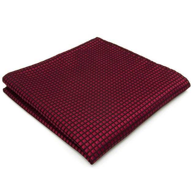 U25 Solid Checked Burgundy Crimson Red Black Mens Neckties 100% Silk Matchingeosegal-eosegal