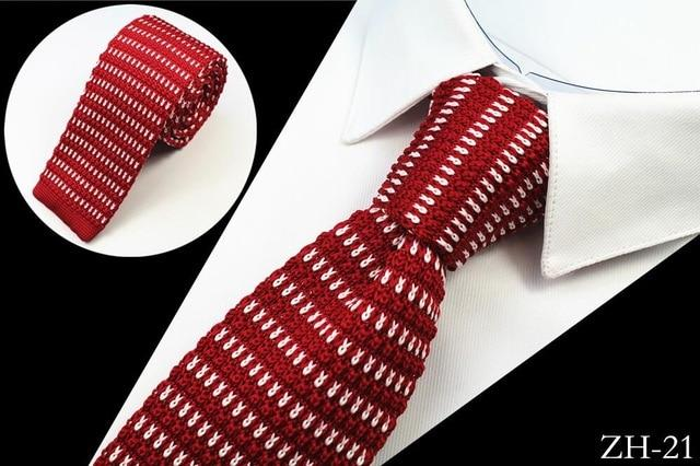 Brand New Design Fashion Knit Tie For Men Slim Knitted Neckeosegal-eosegal
