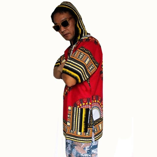 2017New Design Dashiki Hoodies Loose African Print Dashiki Fabric Hood 100%eosegal-eosegal