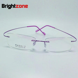 2017 New Memory Titanium Alloy Brand Glasses Frame Eyeglasses Men women Rimlesseosegal-eosegal
