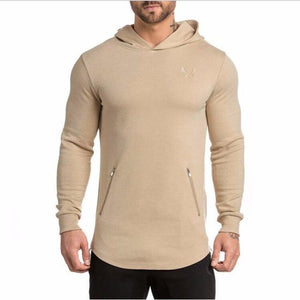 2016 New Arrival ASRV Men's Long Hoodies Hooded Pullovers Casual Sweatershirt Fitnesseosegal-eosegal