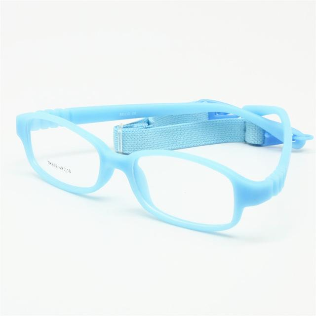 Children Optical Glasses Frame with Strap Size 49, No Screw Flexible Girlseosegal-eosegal