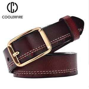 2017 fashion women belts luxury all-match genuine leather belt high quality pin buckle wide vintage cowskin strap female WH003-eosegal