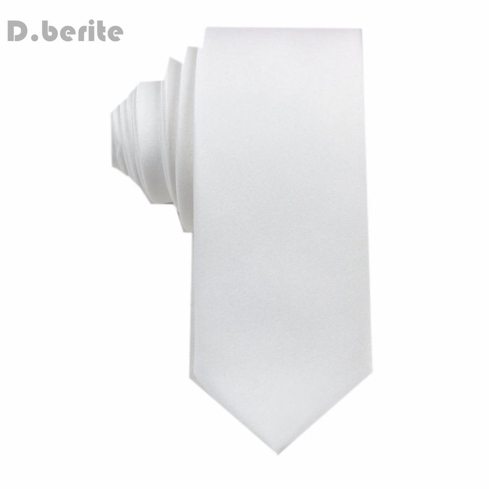 New Necktie Silk ties Handmade White Men's Solid Plain Tie Wedding Groomeosegal-eosegal