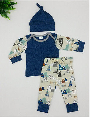 3pcs!!Toddler Kids Newborn Baby Boy Girl T-shirt Tops Drawstring Pants Leggings Hat 3Pcs Outfits Bebek Giyim Clothing Set 0-18M-eosegal