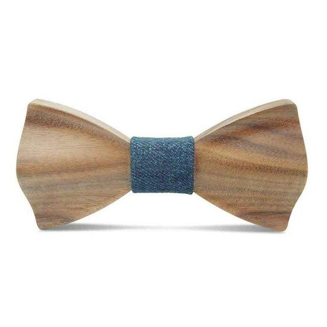 3D New Men Handmade Hardwood Wooden Bow Tie Marriage Wedding Krawatte Boweosegal-eosegal