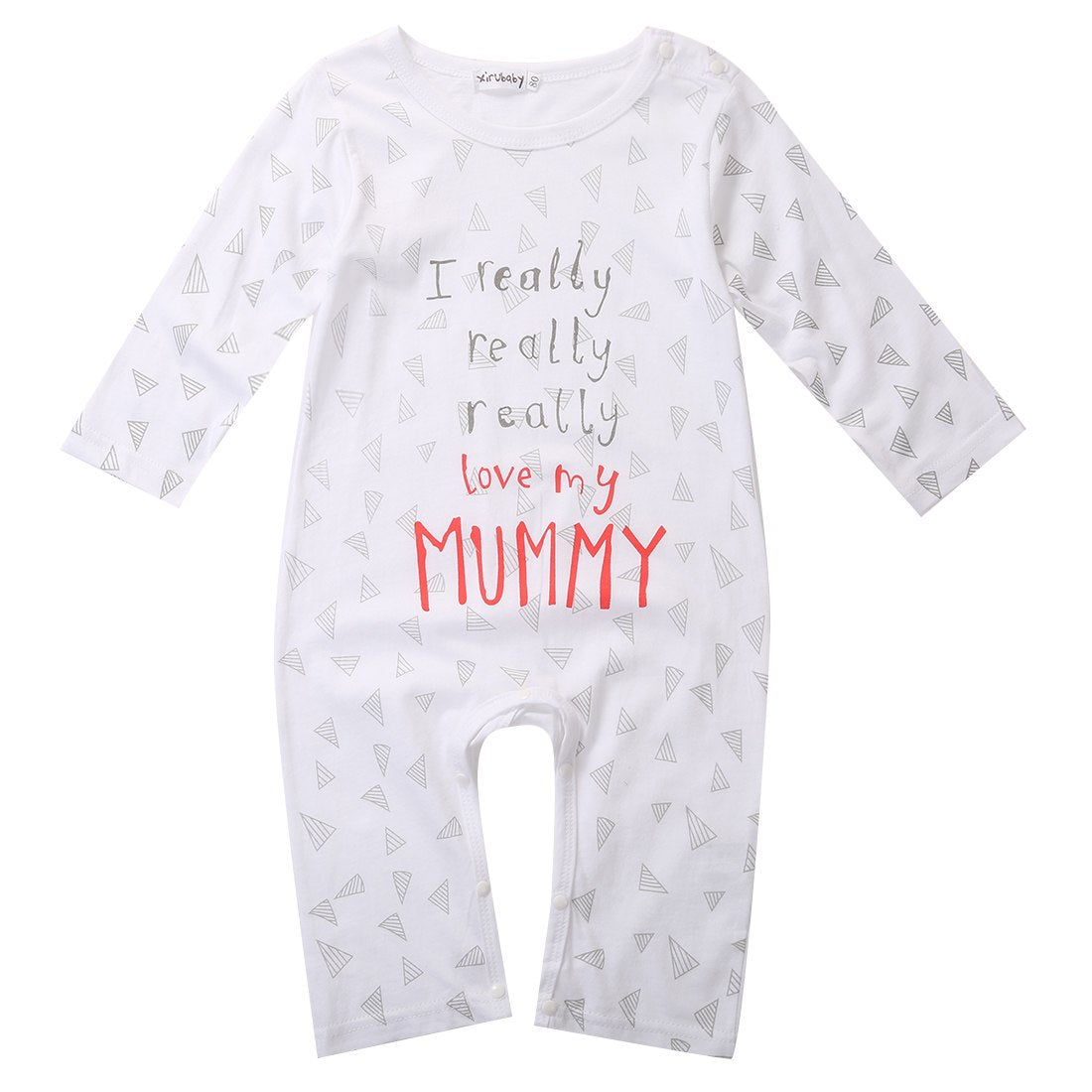 Newborn Baby Rompers Jumpers I love Mum Dad Cotton Boys Girls Sleepsuit-eosegal