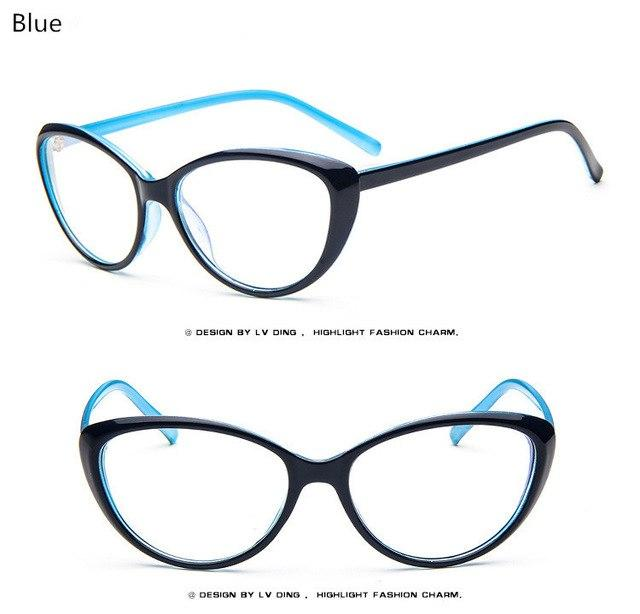 New Women's Fashion Cat Eye Optical Glasses Frame Vintage Women Readingeosegal-eosegal