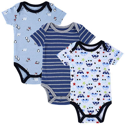 2017 Fashion Summer Short Sleeve Baby Bodysuits Casual Overalls Children Jumpsuit Newborn Clothing for Babies Boys Baby Body-eosegal