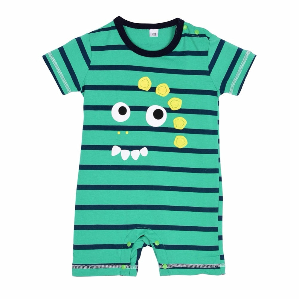 Summer Newborn Baby Cotton Boy Girl Striped Rompers One-piece Rompers Jumpsuits Infant Clothing 0-24M-eosegal