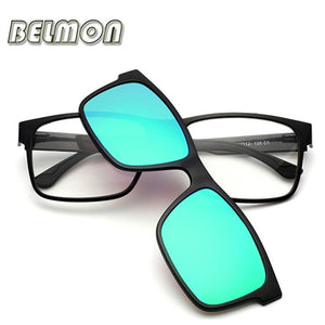 Fashion Optical Eyeglasses Frame Men Women Clip On Magnets Polarized Sungllasses Myopiaeosegal-eosegal