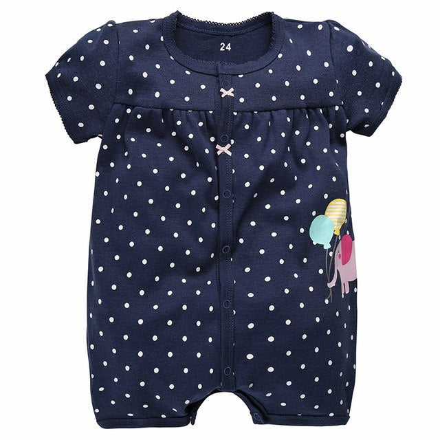 Baby Rompers Summer Baby Girl Clothes 2017 Baby Boys Clothing Sets Short Sleeve Newborn Baby Clothes Roupas Bebe Infant Jumpsuit-eosegal