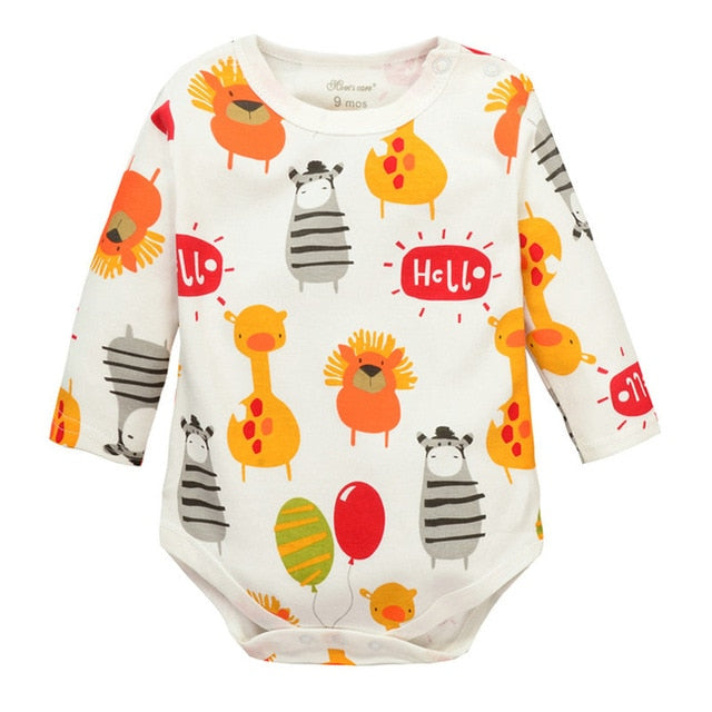 Baby Boys Girls long sleeved Rompers 2017 Newborn Baby's Clothes Kids Costume Jumpsuit&Rompers KF010-eosegal