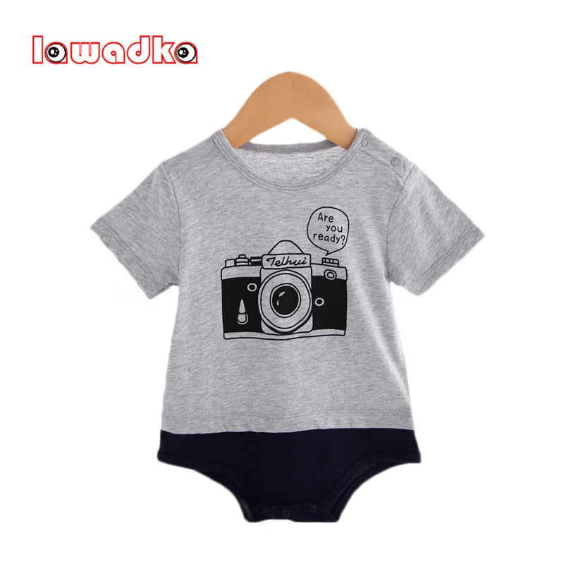 Lawadka Cotton Baby Rompers Camera Design Baby Wear Infant Jumpsuit Boys Clothes Roupas Infantil-eosegal