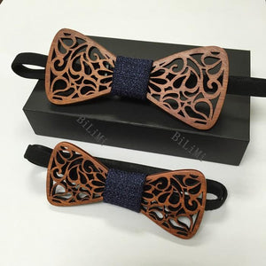 New Fashion Wood Bow Tie for Father And Son Bowtie Butterflies parenteosegal-eosegal