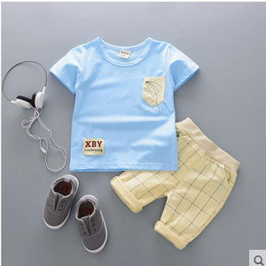 Cartoon Cotton Summer Clothing Sets for Newborn Baby Boy Infant Fashion Outerwear Clothes Suit T-shirt+Pant Suit baby Boy Cloth-eosegal