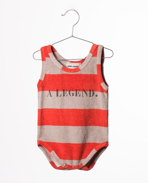 BOBOZONE Fashion Bodysuits 2017 new sleeveless o-neck One-Pieces for baby kids clothing top-eosegal