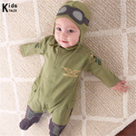 RP-006 New Aviator baby rompers newborn babies spring & autumn clothes baby jumpsuit infant clothes bebe clothes-eosegal