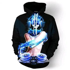 Fashion Hoodie Sweatshirt Music Dj Concert 3D All Over Print Pullover Hoodieseosegal-eosegal