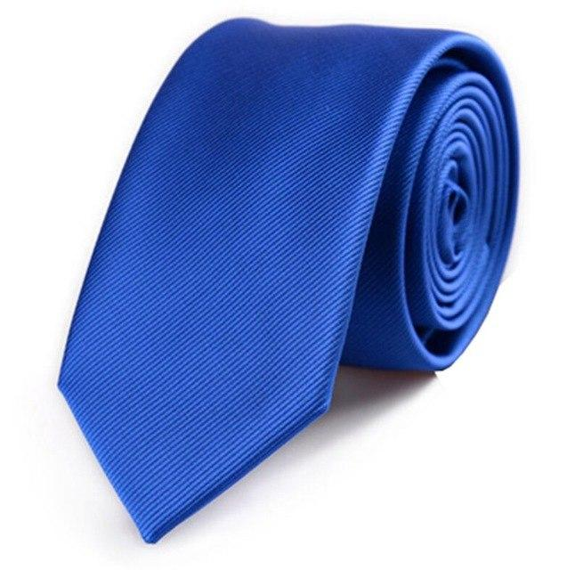 Plain Color Tie 6cm Slim Tie Men's Necktie Solid Color Skinnyeosegal-eosegal