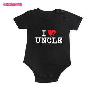 Cute Funny I Love My Uncle Child One Piece Child Fun Present Infant Baby Babies Romper Christmas Family Toddler Jumpsuit Infant-eosegal
