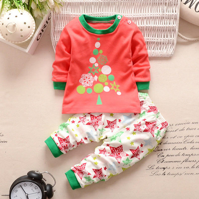 BBYIFU Spring O-Neck Character Pullover Baby Boy Girls Clothes Sets Pink Flowers 2pcs Suit T-shirt+Pants Sweet Kids Clothing Set-eosegal