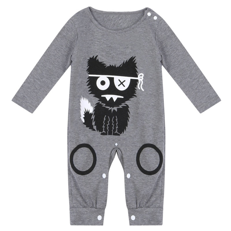 Cartoon Baby Boy Clothes Long Sleeve Baby Rompers Newborn Cotton Baby Girl Clothing Jumpsuit Infant Clothing-eosegal