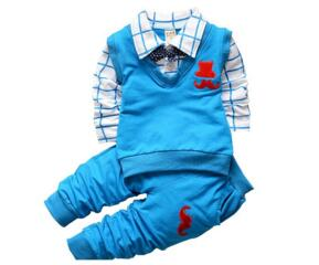 BibiCola Spring Autumn Baby Boy Clothing Sets Kids Clothes Set Toddler Boys Cotton t-shirts+pants Sports Suit Tracksuit Set-eosegal