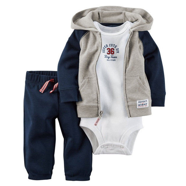a0efe8c6fd3e ZOFZ Baby boys clothes sets 3Pcs Lot New Baby Rompers full Sleeve ...