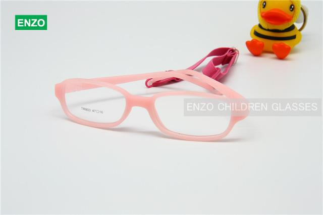 Kids Eyeglasses with Cord Size 47, Mira Flexible One-piece Children Glasses Frameeosegal-eosegal