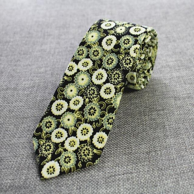 Men Ties 100% Cotton 6cm Necktie for Men Causal Paisley Tieeosegal-eosegal