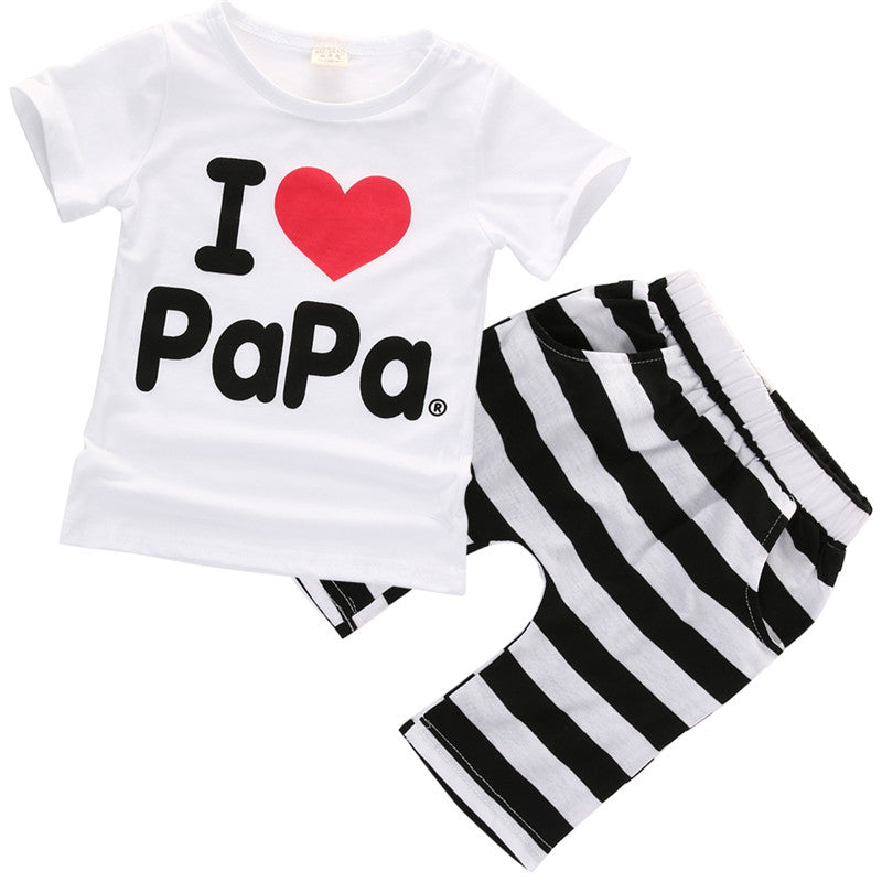2016 Baby Boy Girls Newborn Clothes Casual Pajamas Set T-shirt Pants 2PC Outfits-eosegal
