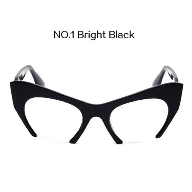YOOSKE Half frame Sunglasses Fashion Women Cat Eye Glasses frame Female Plasticeosegal-eosegal