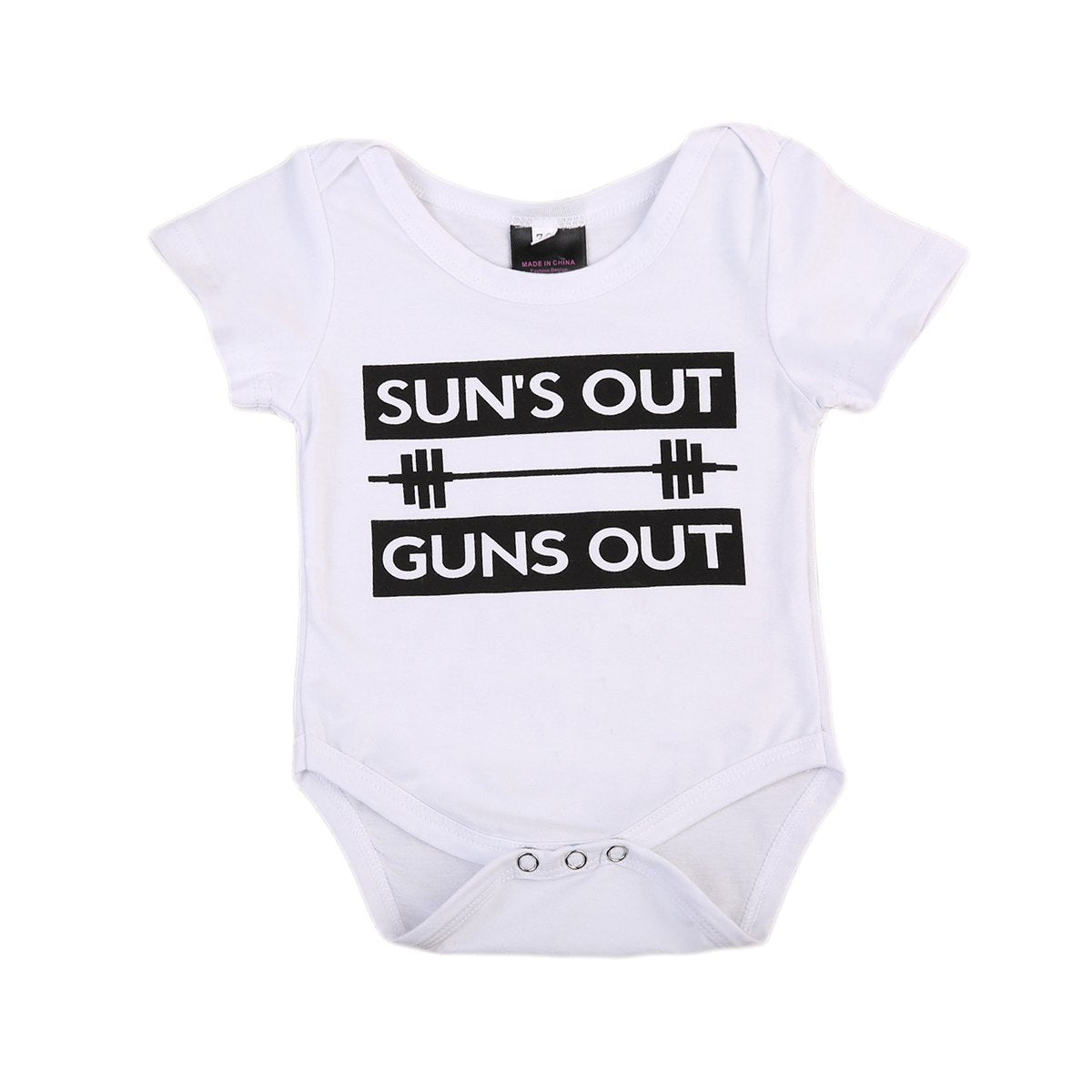Newborn Infant Baby Boy Girl Clothing Tops Bodysuit Short Sleeve Cotton Cute Jumpsuit Sunsuit Outfits Clothes-eosegal