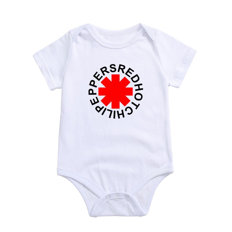 Short Sleeve Newborn Body Baby Wear Red Hot Chili Peppers Print Cotton Summer Jumpsuits Infant Clothing Baby-eosegal