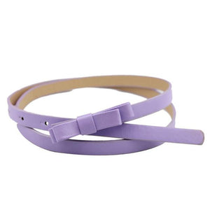 New Fashion Dow Candy Thin Women Pu Leather Belt Casual Dripping rose Cummerbund For Girl cintos para as mulheres f1-eosegal