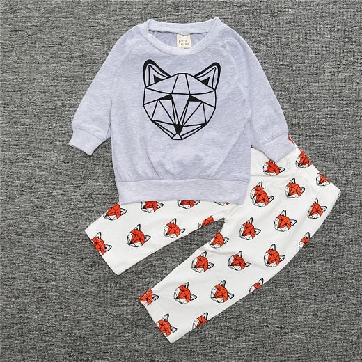 RY-96 New Arrival Newborn Baby Boys Girls Clothing Set Spring Autumn Bebe Long Sleeve T-shirt+Pants 2 Pcs Infant Outfits Set-eosegal
