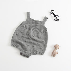 Milancel Baby Bodysuit Infant Jumpsuit Overall Sleeveless Baby Boys Clothing Autumn Knitted Girls Bodysuits Baby Casual Clothes-eosegal