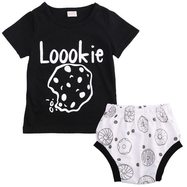 New 2pcs Newborn Toddler Infant Baby Boy Girl Summer Clothes Set Baby Summer Cotton T-shirt Tops+Pants Outfits-eosegal