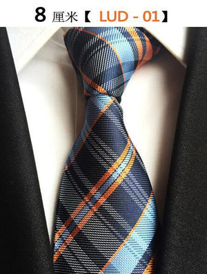 Men's Neckties Classic Striped & Plaid Ties 8cm Fashion Silk Jacquardeosegal-eosegal