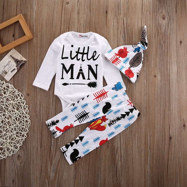 3PCS Cotton Baby Rompers Autumn Newborn Baby Clothes Spring Baby Boy Clothing Roupa Infant Jumpsuits Cute Baby Girls Clothes-eosegal