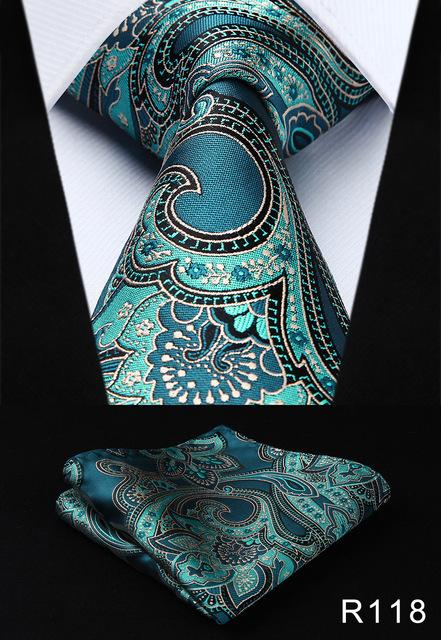 "Pocket Square Classic Party Wedding Men's Fashion Paisley flower 3.4""Silk Woven Weddingeosegal-eosegal"