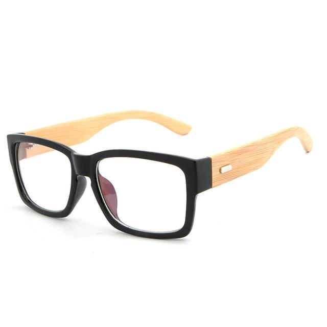 Rectangle Wooden Eyeglasses Frames Men Bamboo Glasses Frame Glasses Spectacles Readingeosegal-eosegal