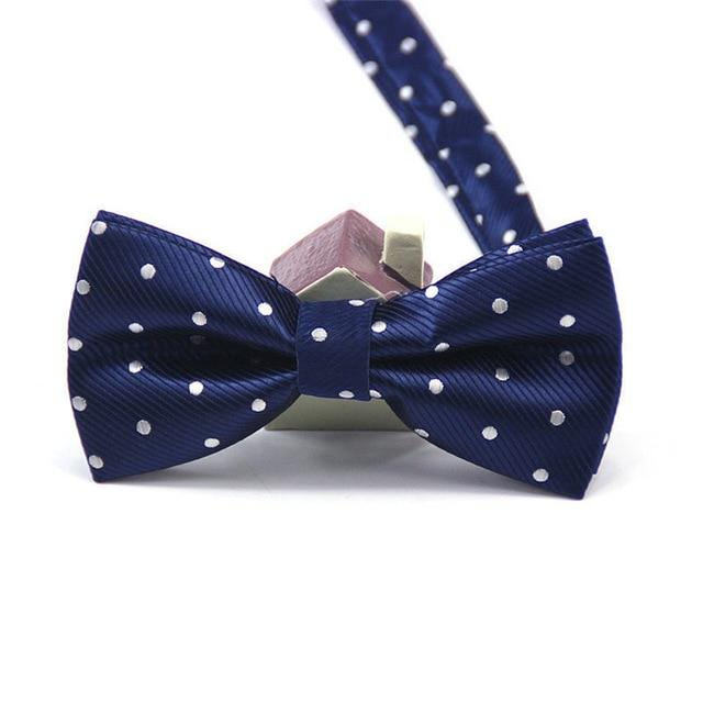 Polyester Men's Bow Tie Polka Dot Bowtie Necktie Business Wedding Necktieseosegal-eosegal