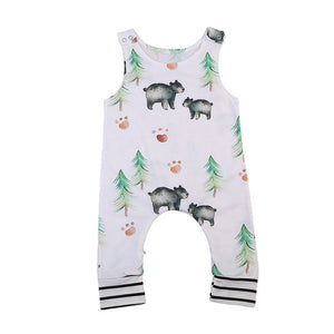 Pudcoco New Infant Baby Boy Girls Clothes Summer One-Piece Cute Sleeveless Romper Babygrow Outfit 0-24M-eosegal