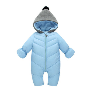 HYLKIDHUOSE 2017 Autumn Winter Baby Girls Boys Rompers Hooded Infant Newborn Cotton Jumpsuits Children Kids Outdoor Warm Coats-eosegal