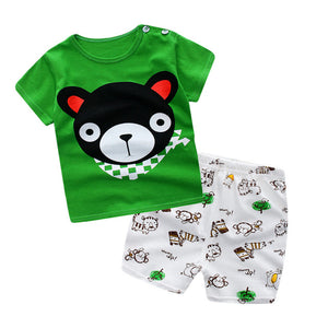 salaher Summer Baby Boys Girls Clothing Set Casual Cotton Costumes Short Sleeve + Pant Newborn Infant Baby Suit Clothes-eosegal