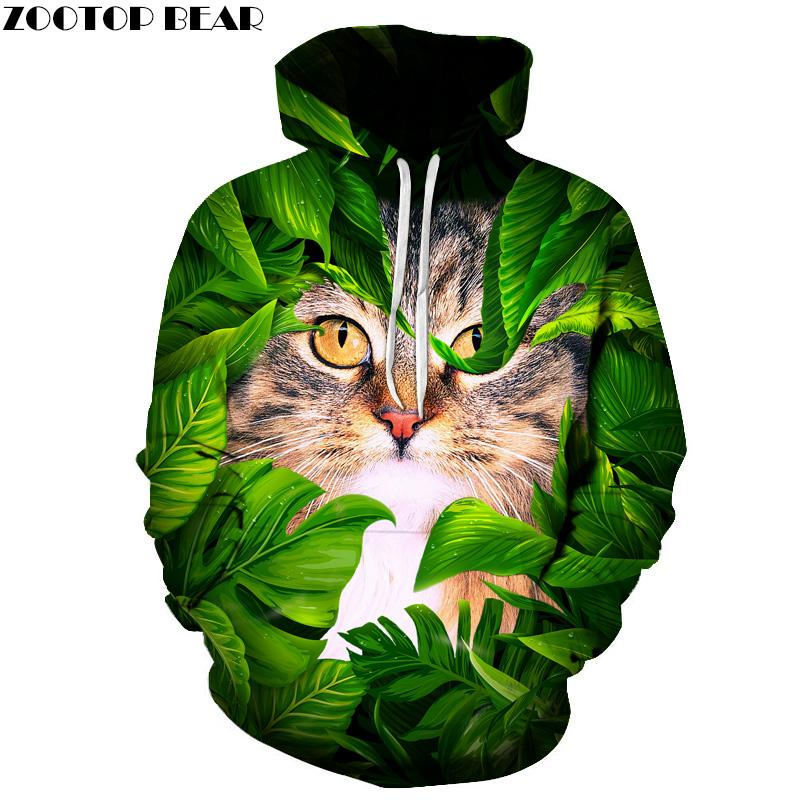 Funny Cat Printed 3D Men Hoodies Women Sweatshirts Hot Sale Autumn Wintereosegal-eosegal