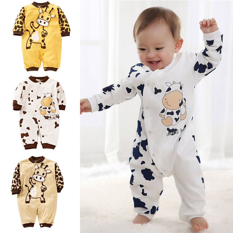 Newborn Girl Boy Rompers Cows Cute Clothes Baby Clothes Infant Girl Boys Romper Clothing 0-24M Gift-eosegal