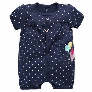 Brand Baby Rompers Summer Baby Girl Clothes 2017 Baby Boy Clothing Fashion Newborn Baby Clothes Roupas Bebe Infant Jumpsuits-eosegal